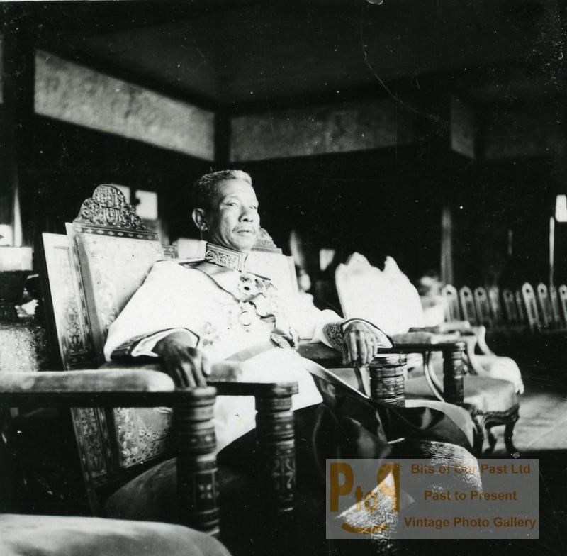 Roi du Cambodge Sisowath Monivong Ancienne Photo Instantanée Amateur 1930