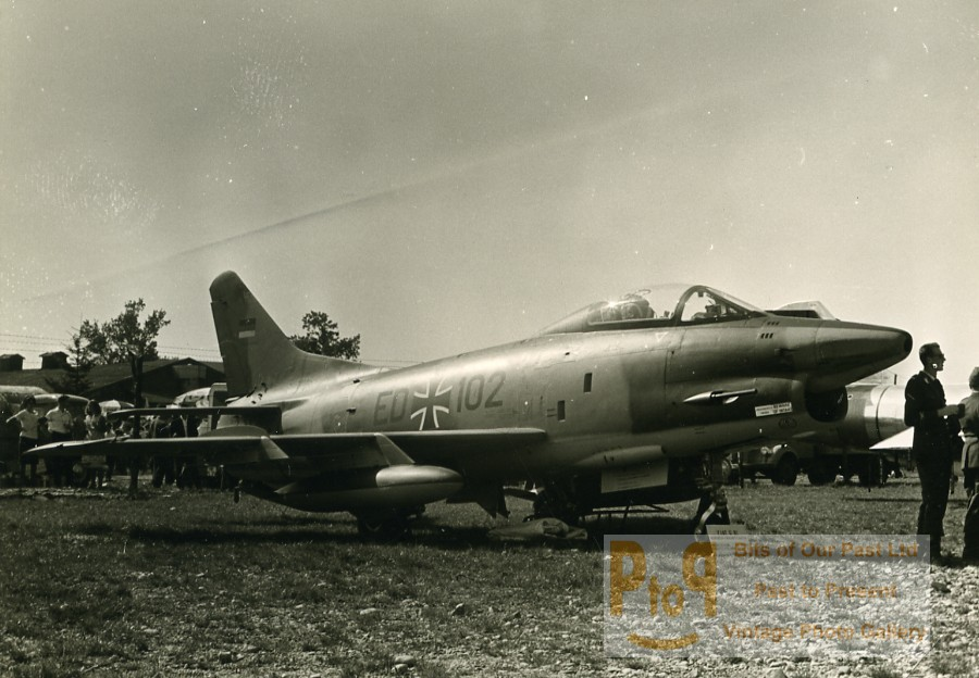 German Military Fighter Aircraft Fiat G 91 Luftwaffe ED+102 Aviation Photo  1960