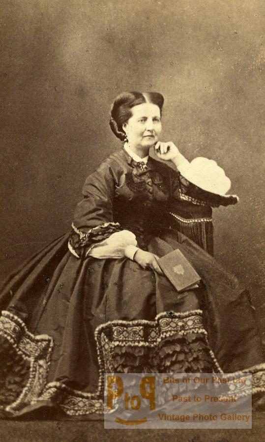 Paris Cdv France Second Delintraz Empire Fashion 1860's Woman Photo Old TkZPXuOi
