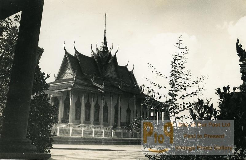 Phnom Penh temple de Wat Phnom Ancienne Photo Instantanée Amateur 1930