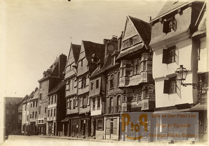 France Brittany Bretagne Lannion Old Houses Old Photo Fougere 1880