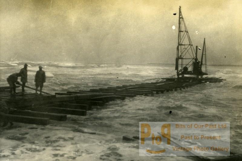 France port of dunkirk dunkerque extension work west south dike old photo 1930 - Dunkirk port france address ...