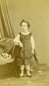 Young Girl Fashion Paris Early Studio Photo Genevois Old CDV 1860
