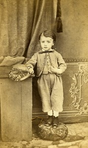 Young Boy Fashion Paris Early Studio Photo Laporte Old CDV 1860