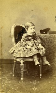 Young Boy Fashion Paris Early Studio Photo Lavaud Old CDV 1860
