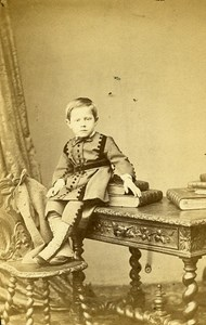 Young Boy Fashion Paris Early Studio Photo Franck Old CDV 1860