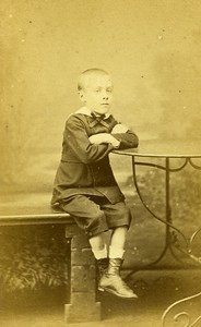 Young Boy Fashion Paris Early Studio Photo Bacard Old CDV 1860