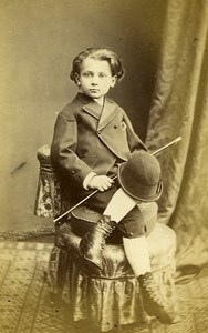 Young Boy Fashion Paris Early Studio Photo See Jally Old CDV 1860