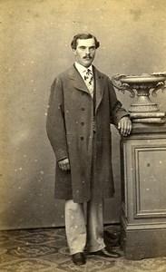 Man Standing Fashion Paris Early Studio Photo Lejeune Old CDV 1860