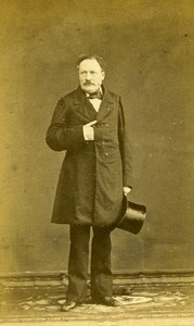 Man Standing Fashion Paris Early Studio Photo Jamin Old CDV 1860
