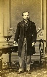 Man Standing Fashion Paris Early Studio Photo De Torbechet Old CDV 1860
