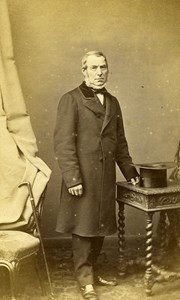 Man Standing Fashion Paris Early Studio Photo Mouret Old CDV 1860