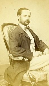 Man Sitting Fashion Paris Early Studio Photo Gilmer Old CDV 1860