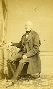 Man Sitting Fashion Paris Early Studio Photo Persus Old CDV 1860