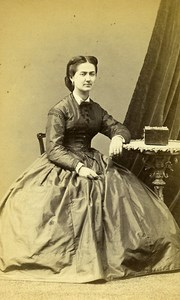 Woman Seated Paris Early Studio Photo Ken Old CDV 1860