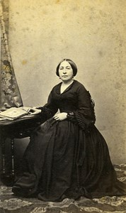 Woman Seated Paris Early Studio Photo Jacques Old CDV 1860