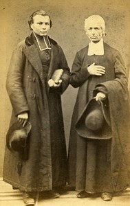 Priest Religion Paris Early Studio Photo Legros Old CDV 1860
