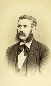 Armand de Guillays Man Portrait Early Studio Photo Old Jacotin CDV 1870