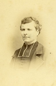 Priest Le Chevallier 41000 Blois Early Studio Photo Old Maignan CDV 1870