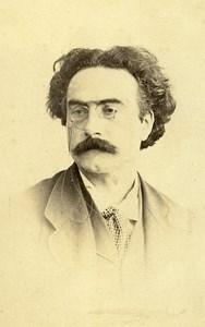 Man Portrait Early Studio Photo Comte Old CDV 1870 Bordeaux