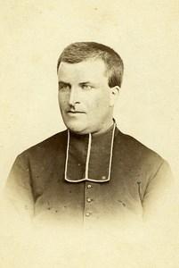 Priest RP Couloignier 44000 Nantes Early Studio Photo Peigne Old CDV 1870
