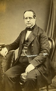Man Fashion Paris Early Photographic Studio Legros Old CDV Photo 1870