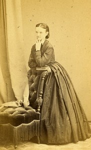 Woman Fashion 31000 Toulouse Photographic Studio Provost Old CDV Photo 1870