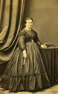 Woman Fashion 33000 Bordeaux Photographic Studio Charles Old CDV Photo 1870