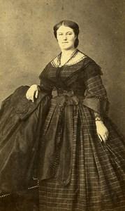 Woman Fashion 02 Peronne Early Photographic Studio Blanger Old CDV Photo 1870