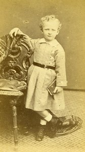 Young Boy Paris Early Photographic Studio Marck Old CDV Photo 1870