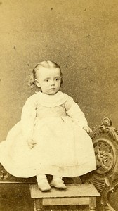 Young Girl 54000 Nancy Early Photographic Studio Perin Old CDV Photo 1870