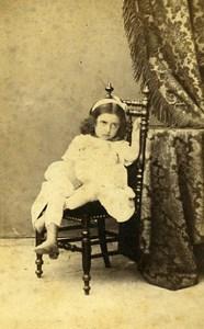 Young Girl 01190 Pont de Vaux Photographic Studio Antonio Old CDV Photo 1870