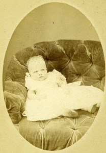Young Girl Paris Early Studio Photo Old CDV Penabert Photo 1870