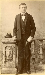 Man Portrait Fashion Paris Old Photo Louis 1890