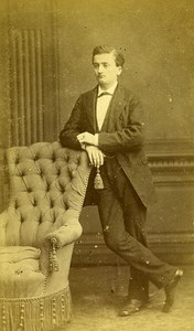 Man Portrait Fashion 69 Lyon Old Photo Coudant 1890