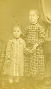 Children Portrait Fashion 94300 Vincennes Old Photo CDV Delaporte 1890