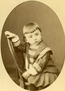 Baby Portrait Fashion Paris Old Photo CDV Maujean Leopold Dubois 1890