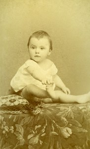 Baby Portrait Fashion 27000 Evreux Old Photo CDV Berthaud ca 1890