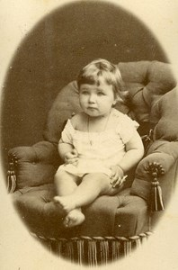 Baby Portrait Fashion 27000 Evreux Old Photo CDV Berthaud 1890