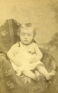 Baby Portrait Fashion 51000 Blois Old Photo CDV Maignan 1890