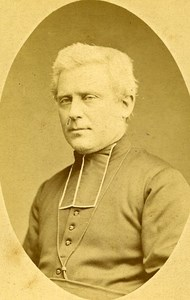 Catholic Religion Priest 42000 Saint Etienne Old Photo CDV Berthon 1890