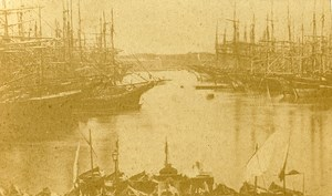 Sailboats Vieux Port 13000 Marseille France Old Photo CDV 1870
