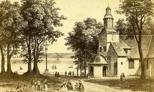 Chapel Notre Dame de Grace 14600 Honfleur France Old Photo CDV 1870