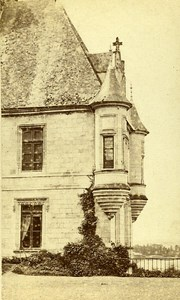 Castle Facade 41000 Chaumont France Old CDV Photo 1870