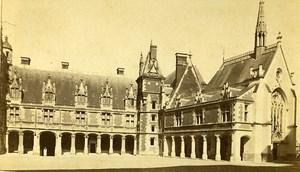 Castle Louis XII Facade 41000 Blois France Old Mieusement CDV Photo 1870