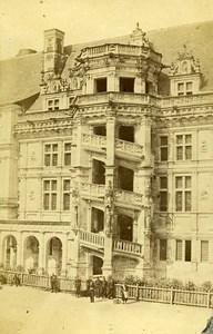 Castle Francois I Facade Staircase 41000 Blois France CDV Mieusement Photo 1870