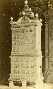 Castle Stove in Faience Meissen 41000 Blois France Old CDV Photo 1870
