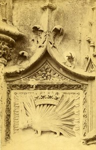 Castle Wing Francois Premier Blason 41000 Blois France Old CDV Photo 1870