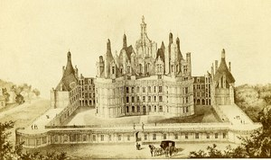 Castle Wing Francois Premier Facade 41000 Blois France Old CDV Photo 1870