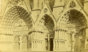 Cathedral Facade 18000 Bourges France Old CDV Gatineau 1870